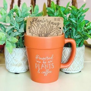 NEW Anthropologie Plant Pot Coffee Mug